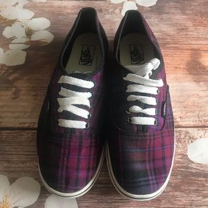 Vans Lo Pro Plaid Shoes